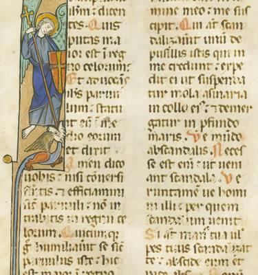 Illustration de saint Michel terrassant le Dragon