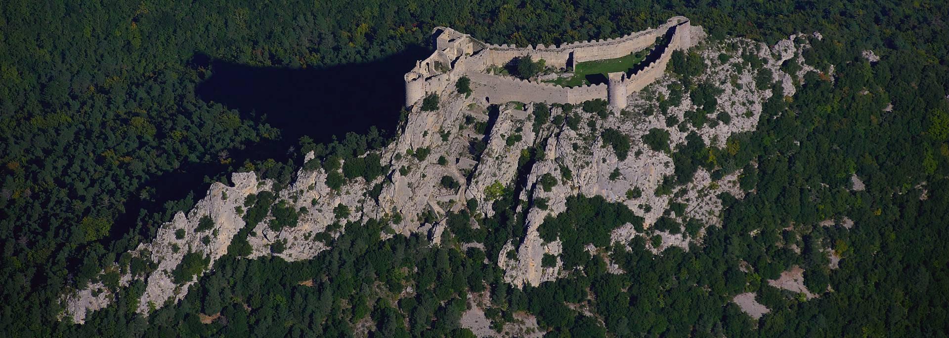 Le château de Puilaurens vue du ciel