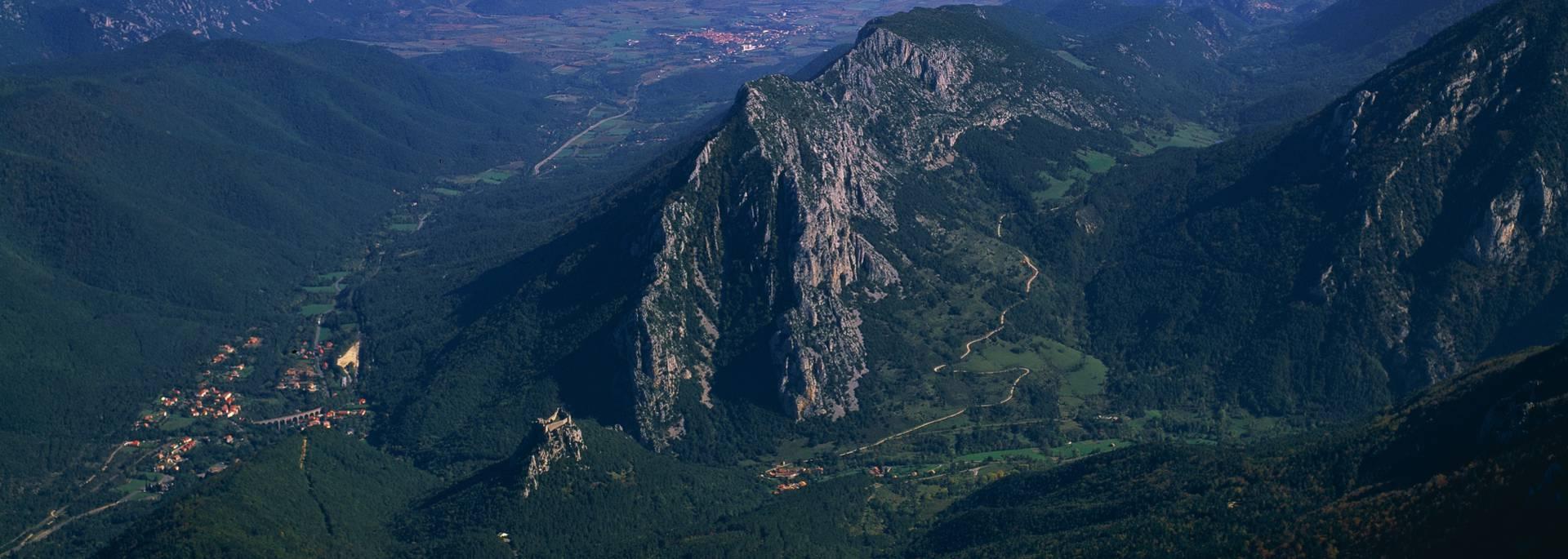 Le château de Puilaurens, le Mont Ardu