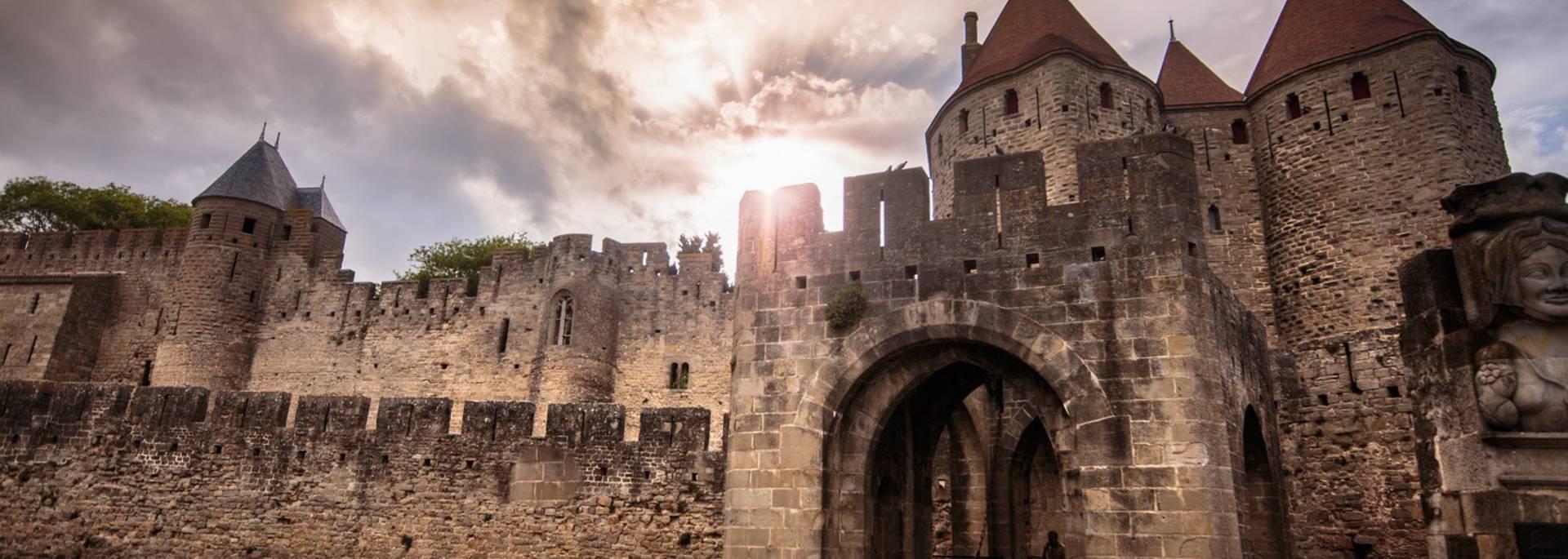 La porte Narbonnaise de la Cité de Carcassonne