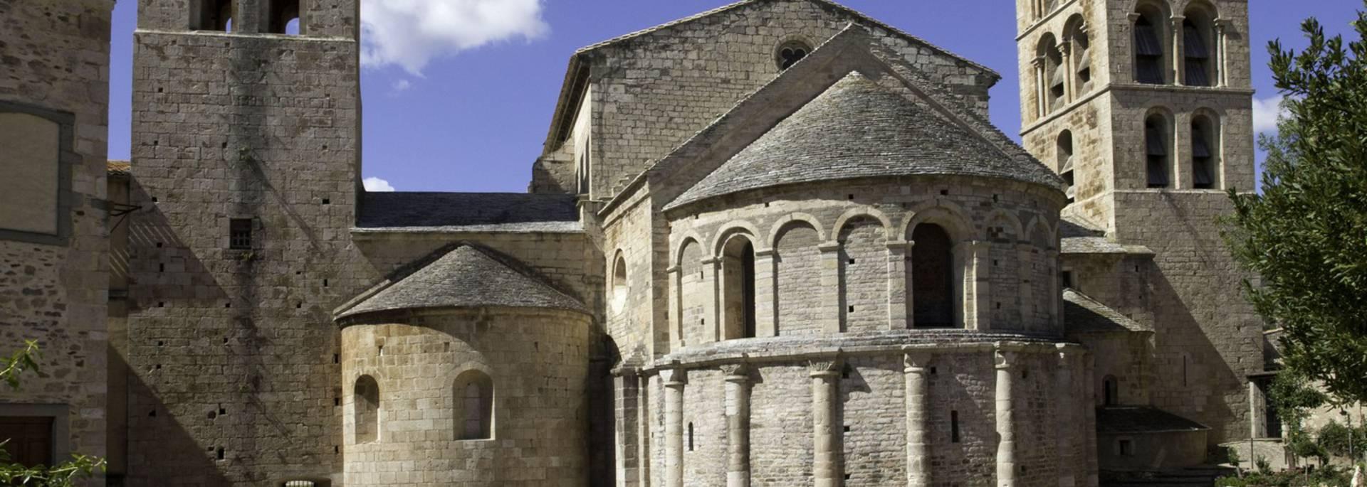 Vue sur le chevet de l'Abbaye