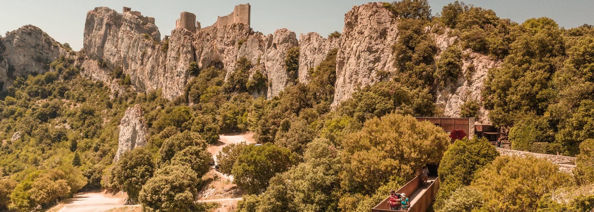 Visiting the Peyrepertuse's castle