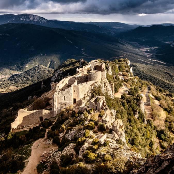 Visite du château de Peyrepertuse ©Vincent Photographie