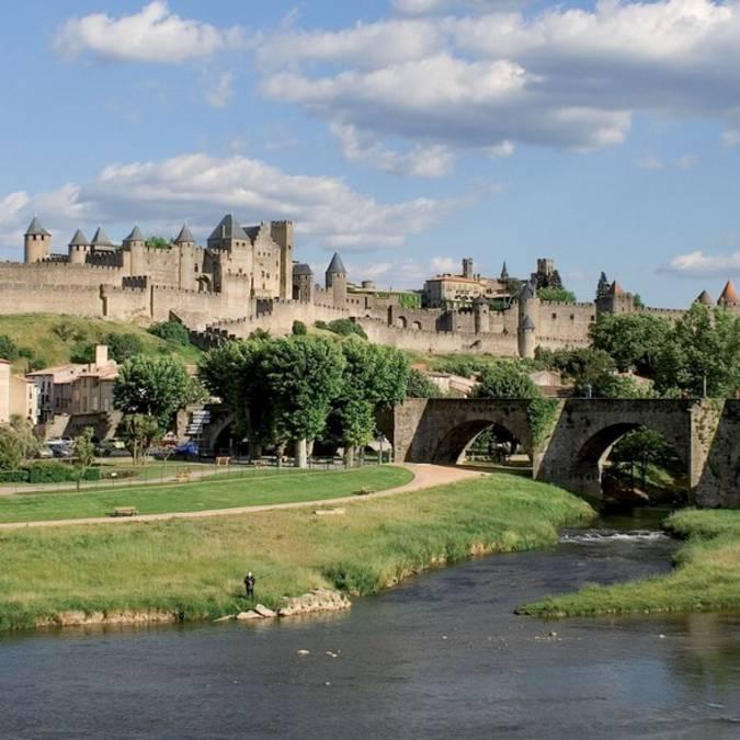 Cité de Carcassonne vue depuis le Pont Vieux