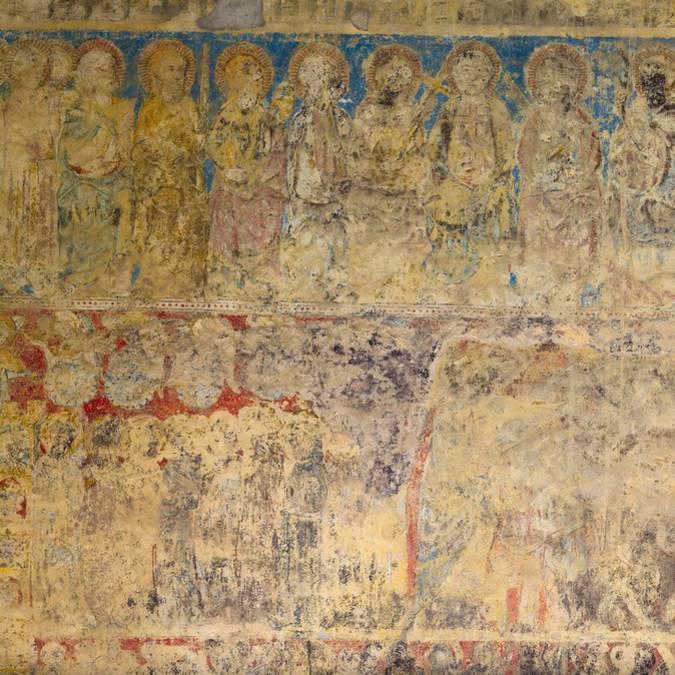 Peintures murales-Abbaye de Lagrasse