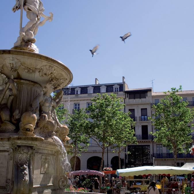 Place Carnot à Carcassonne