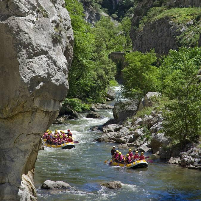 Rafting dans les gorges de la Pierre Lys