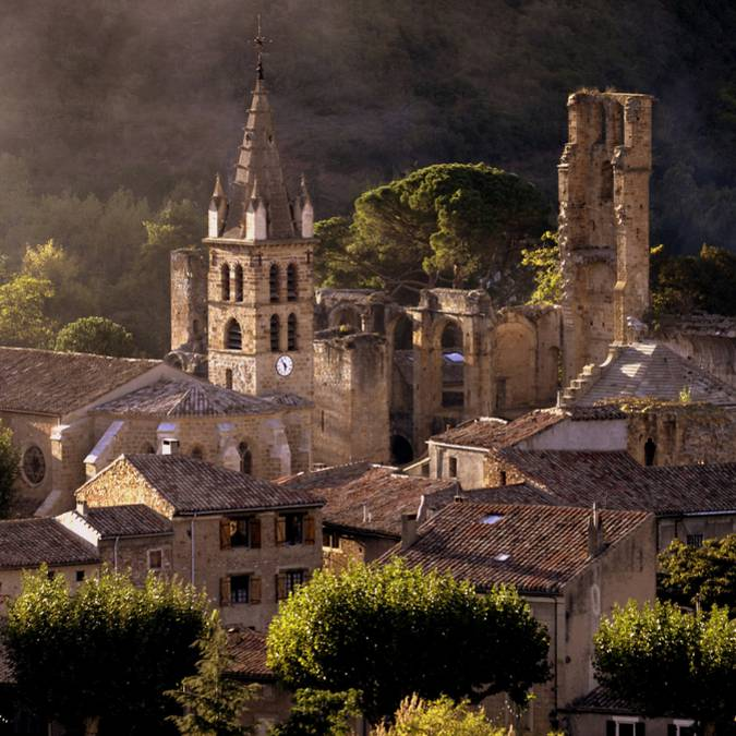 Die Abtei von Alet-les-Bains